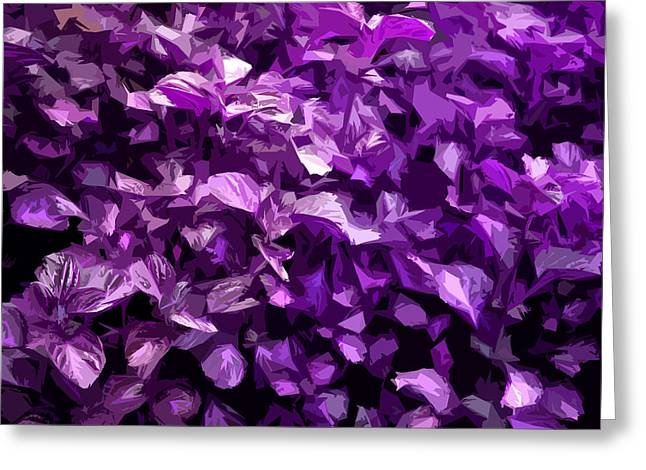 Greeting Card featuring the digital art Abstract Purple by Serene Maisey