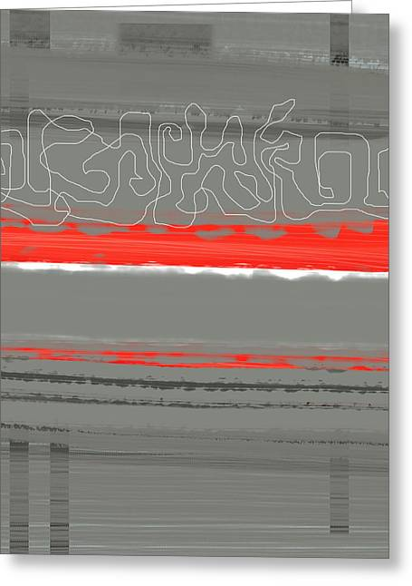 Abstract Red 3 Greeting Card