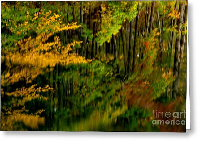Abstract Reflections Greeting Card by Thomas R Fletcher