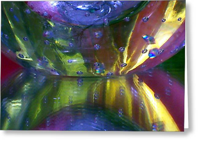 Abstract Series 4 No.4 Greeting Card by B L Hickman
