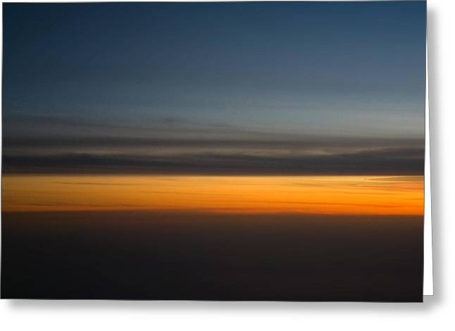 Abstract Sky Through A Plane Window Greeting Card by Pixie Copley