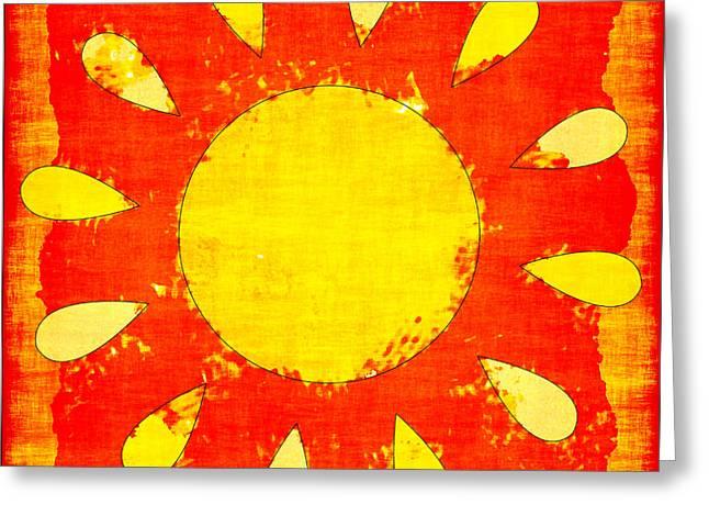 Abstract Sun Greeting Card by David G Paul