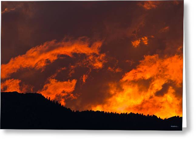 Abstract Sunset Greeting Card by Mitch Shindelbower