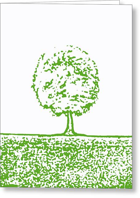 Abstract Tree By Shawna Erback Greeting Card by Shawna Erback