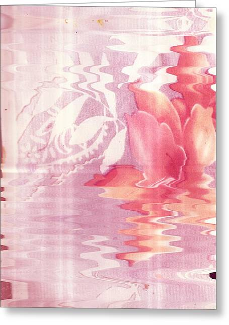 Abstract Vase With Floral Designs Greeting Card by Anne-Elizabeth Whiteway