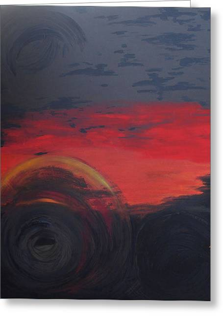 Abstract View Greeting Card by Lisa Kramer