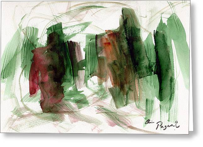 Abstract Watercolor 51 Greeting Card