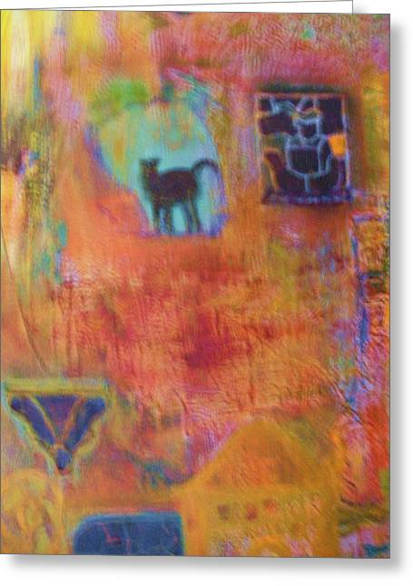 Abstract With Many Colors Greeting Card by Anne-Elizabeth Whiteway