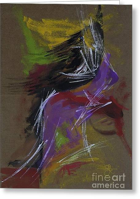 Abstract Woman Greeting Card