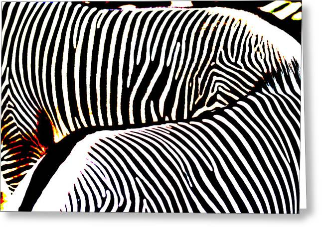 Abstract Zebra 002 Greeting Card by Lon Casler Bixby