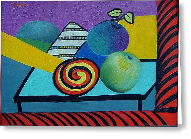 Abstracted Apples Greeting Card by Karin Eisermann