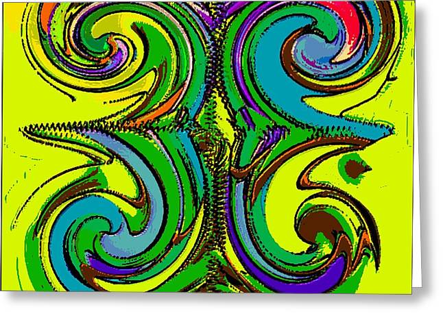 Abstracto Del Lunes 2 Greeting Card by Rod Saavedra-Ferrere