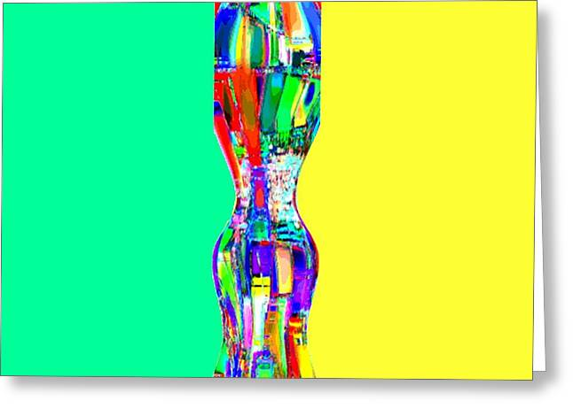 Abstracto Del Lunes Greeting Card by Rod Saavedra-Ferrere