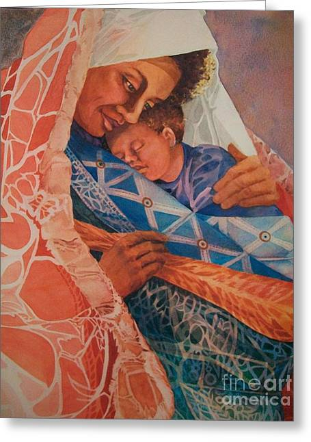 Abuela Two Greeting Card by Judith A Smothers