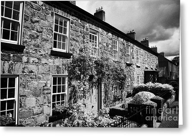 Academy Street In 18th Century Gracehill Village A Moravian Settlement In County Antrim Ireland Greeting Card by Joe Fox