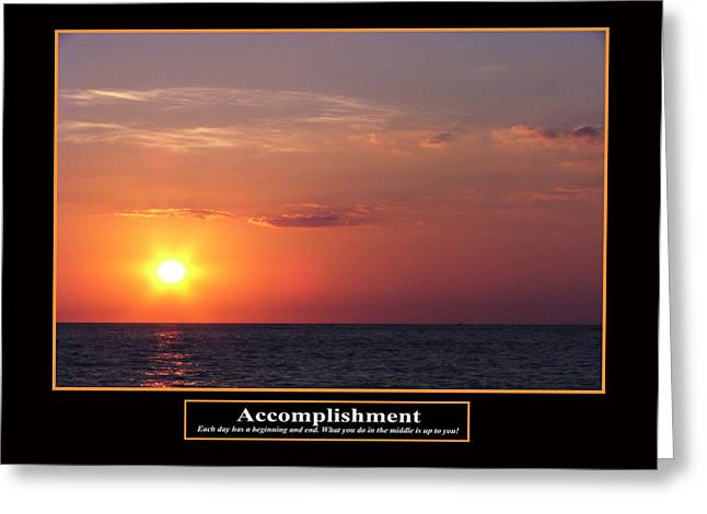 Accomplishment Greeting Card by Kevin Brant