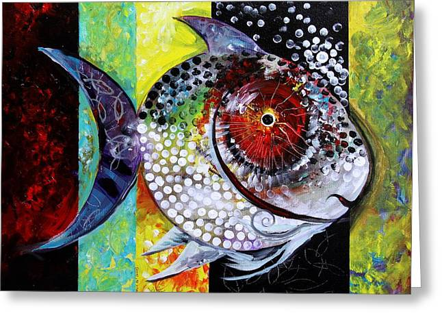Acidfish 70 Greeting Card by J Vincent Scarpace