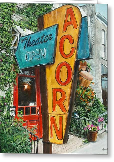 Acorn Theater Greeting Card