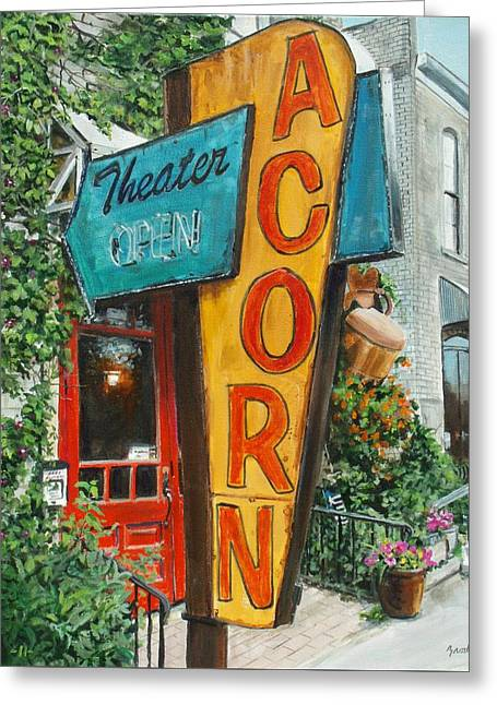 Acorn Theater Greeting Card
