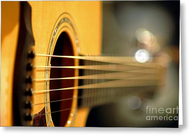 Acoustic Guitar Greeting Card by Gib Martinez