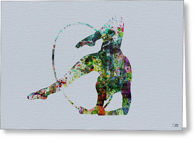 Acrobatic Dancer Greeting Card by Naxart Studio