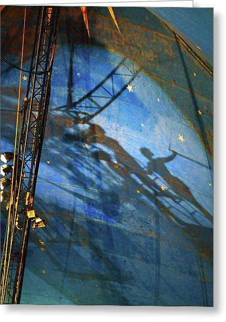 Acrobats Shadows Greeting Card by Tommy  Urbans