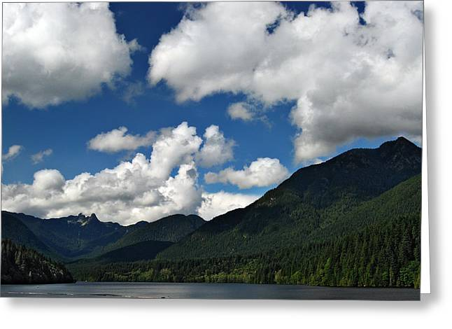 Across Capilano Lake Greeting Card