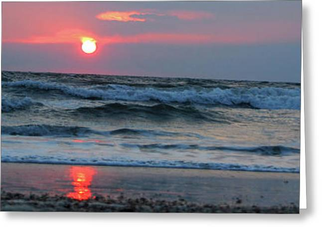 Greeting Card featuring the photograph Across The Sea by Linda Mesibov