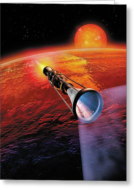 Across The Sea Of Suns Greeting Card by Don Dixon