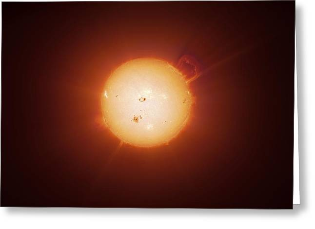 Active Sun, Artwork Greeting Card by Detlev Van Ravenswaay