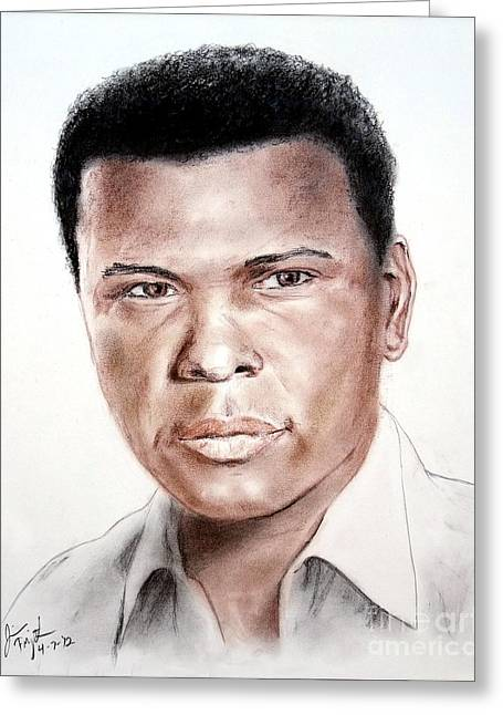 Actor Sidney Poitier Greeting Card by Jim Fitzpatrick