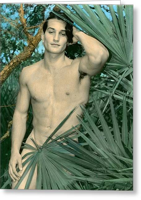 Adam In Paradise 2 Greeting Card by Jean-claude Poulin