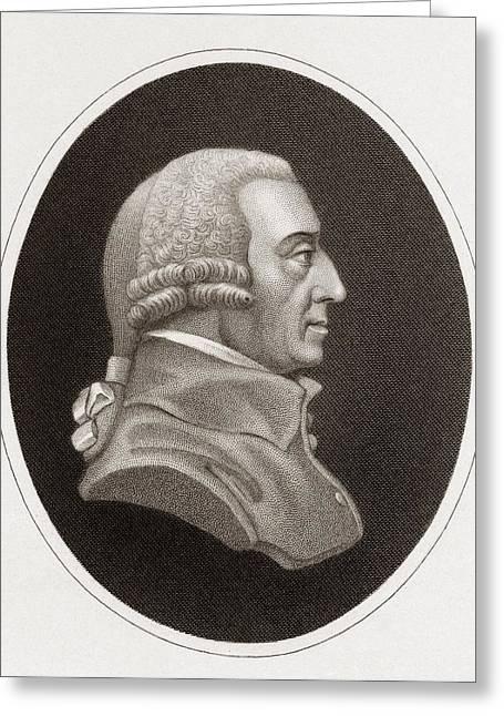 Adam Smith, Philosopher And Economist Greeting Card