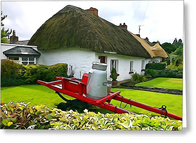 Greeting Card featuring the photograph Adare Cottage by Charlie and Norma Brock