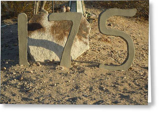 Address Numbers Greeting Card by Jane Williams