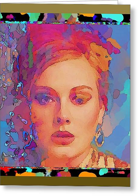 Adele Greeting Card by Rod Saavedra-Ferrere