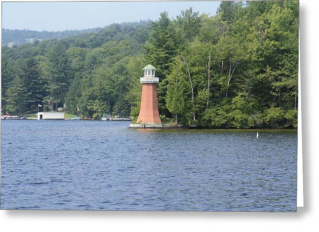 Greeting Card featuring the photograph Adirondack Lighthouse by Ann Murphy