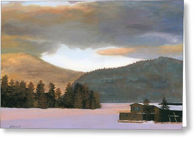 Adirondack Morning Greeting Card by Lynne Reichhart