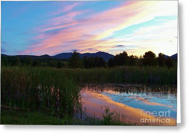 Adirondack Reflections 2 Greeting Card by Peggy Miller