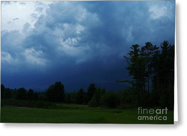 Adirondack Thunderstorm Greeting Card by Peggy Miller