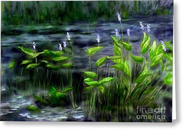 Adirondacks Natural Wetlands Pickeral Plant Greeting Card by Judy Filarecki