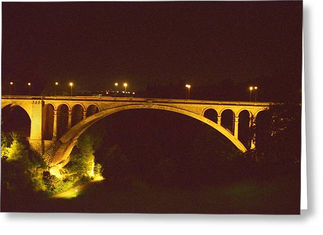 Greeting Card featuring the photograph Adolphe Bridge  by Dennis Lundell