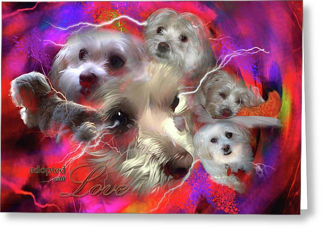 Adopted With Love Greeting Card by Kathy Tarochione