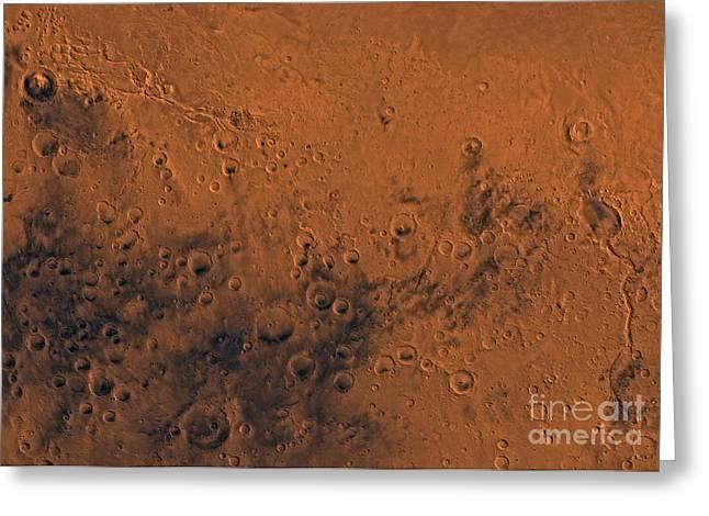 Aeolis Region Of Mars Greeting Card