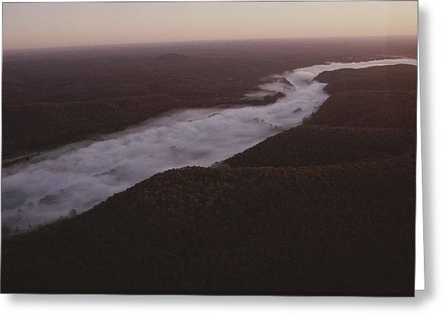 Aerial Of The Buffalo River Greeting Card by Randy Olson