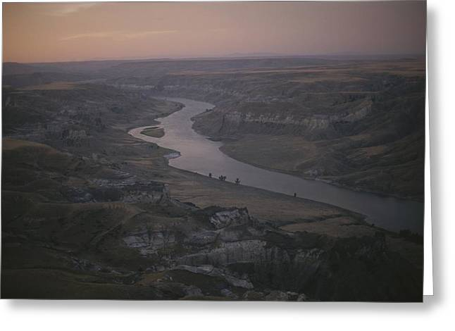 Aerial Of The Missouri River Greeting Card by Sam Abell