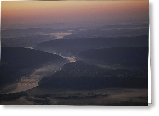 Aerial Over Maryland, Virginia And West Greeting Card by Kenneth Garrett
