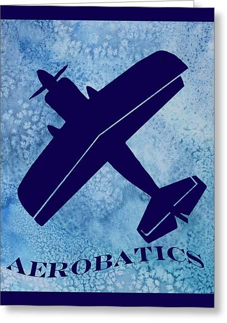 Aerobatics Greeting Card by Jenny Armitage
