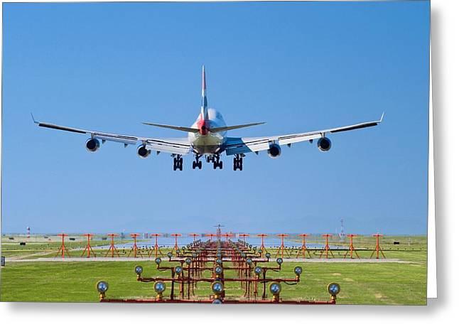 Aeroplane Landing, Canada Greeting Card by David Nunuk