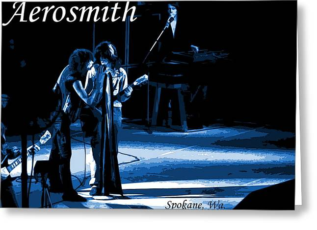 Aerosmith In Spokane 12c Greeting Card by Ben Upham